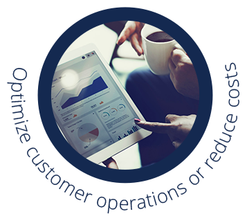 optimize customer operations or reduce costs