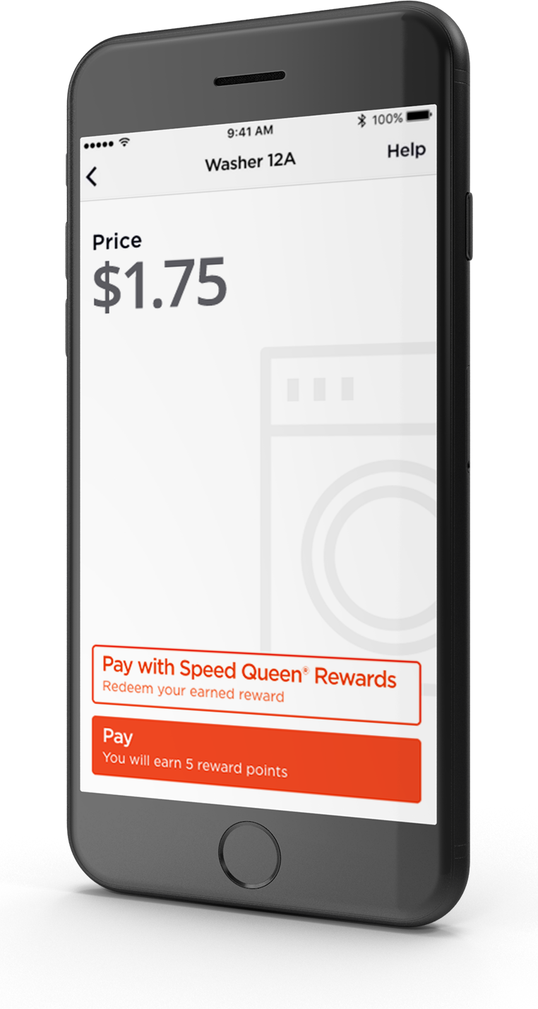 Speed Queen Insights, with the Speed Queen app and Speed Queen Rewards, offers payment and cycle monitoring via smartphone.