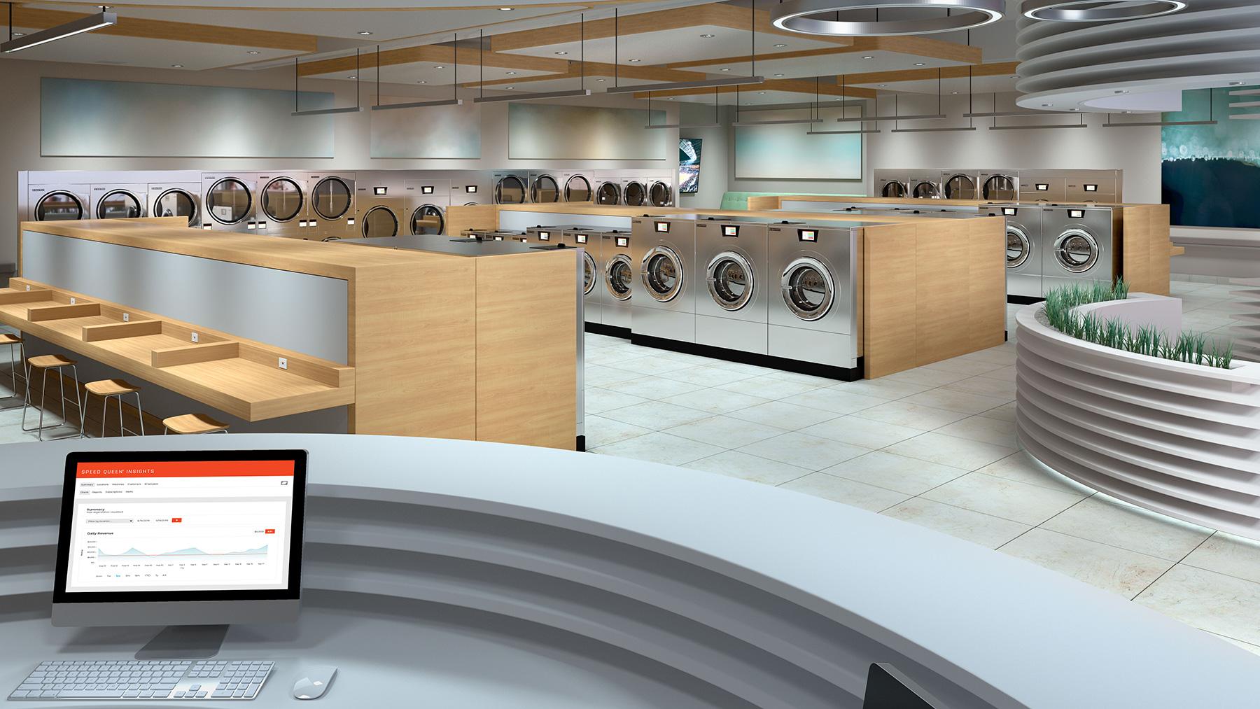 Laundromat front desk